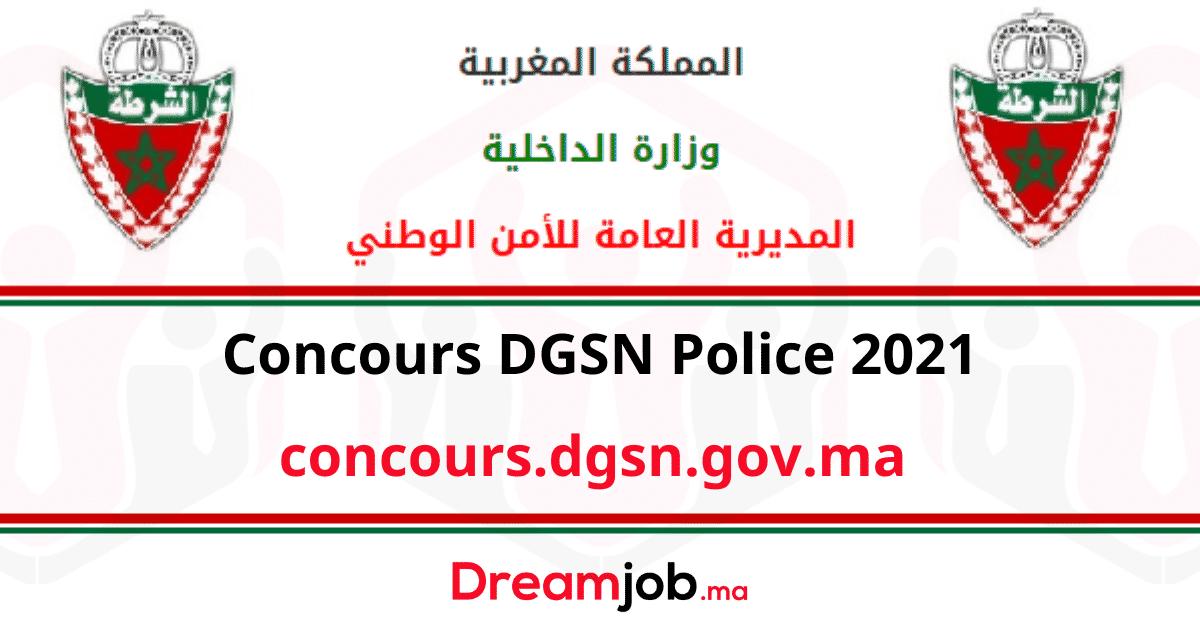 Concours DGSN Police 2021