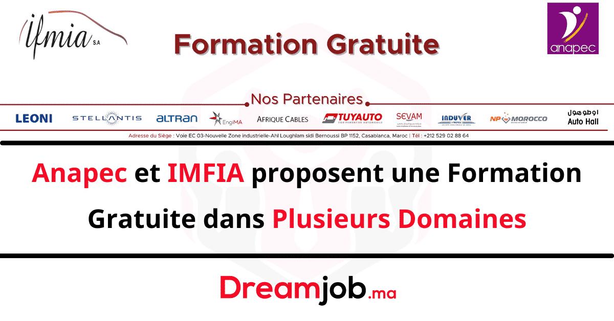 Anapec IFMIA Formation Gratuite