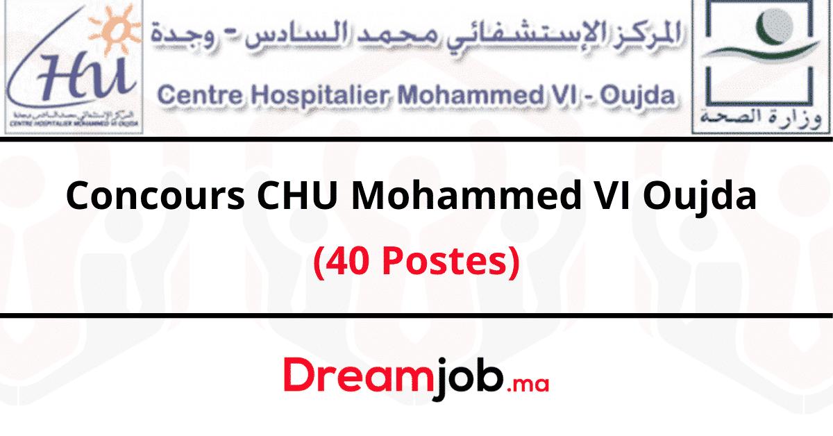 CHU Mohammed VI Oujda Concours Emploi Recrutement