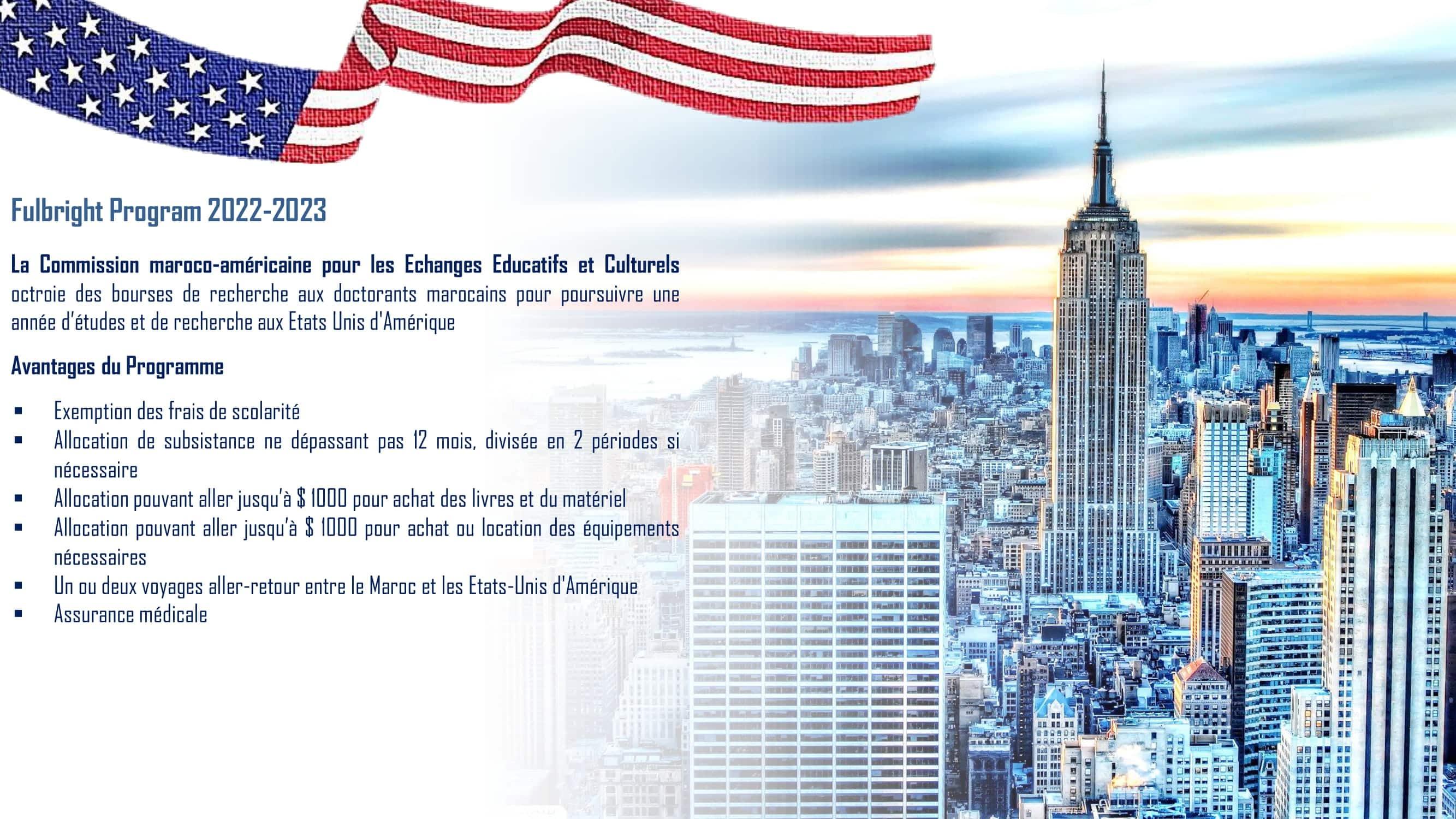 Doctorat Fulbright 1 Bourses Fullbright Program aux Etats-Unis 2022/2023