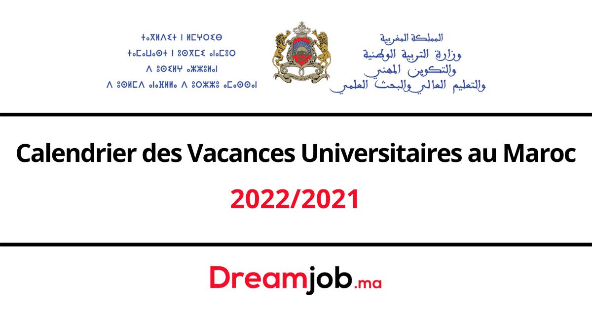 Calendrier Vacances Universitaires Maroc