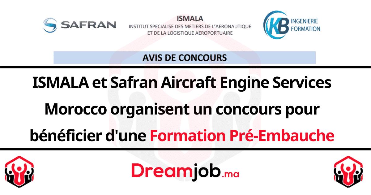 Concours ISMALA OFPPT Safran Formation Pré-Embauche