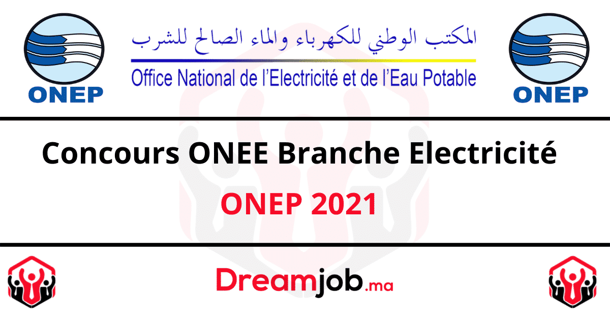 Concours ONEE Branche Electricité ONEP