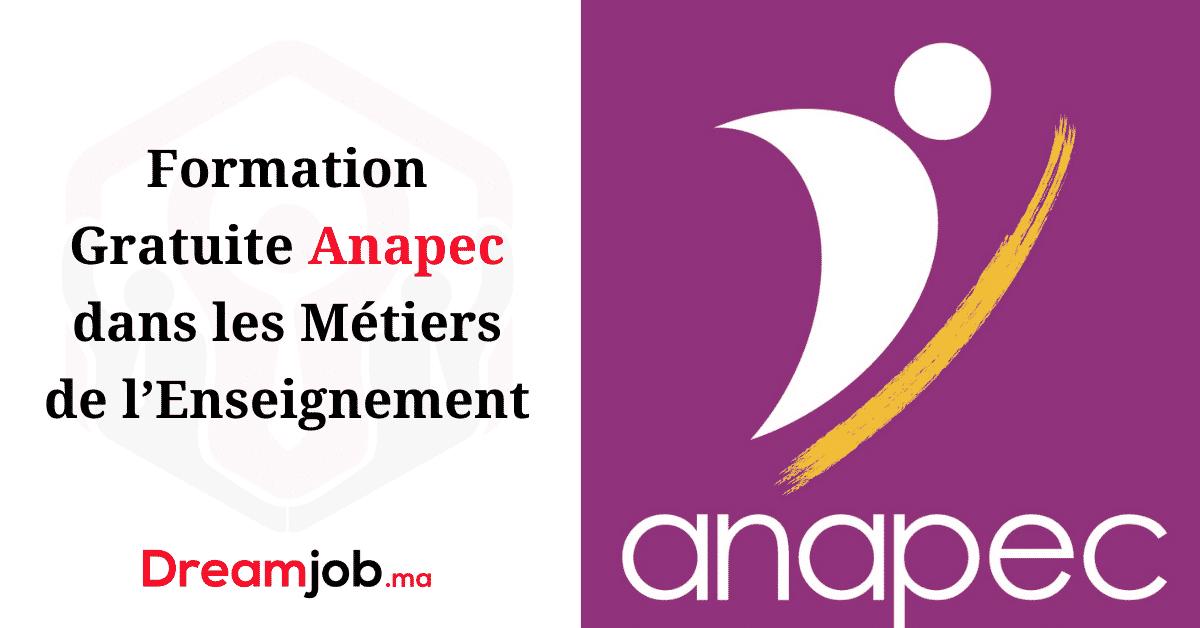 Formation Gratuite Anapec dans les Métiers de l'Enseignement
